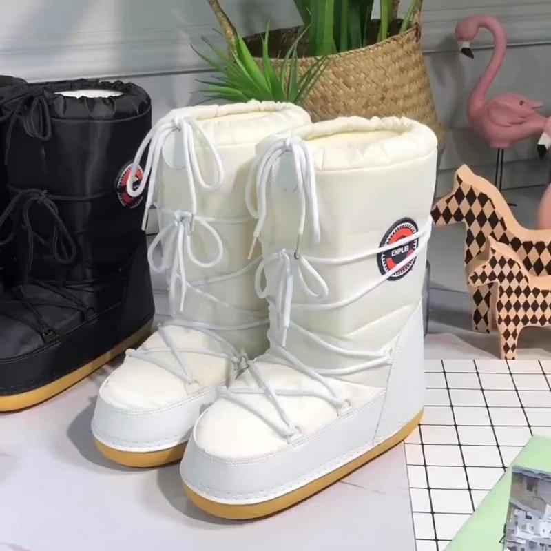 Женские снежные сапоги - экспорт в Европу и Америку осенние и зимние женские весовые ботинки большого размера сапоги для сапог в