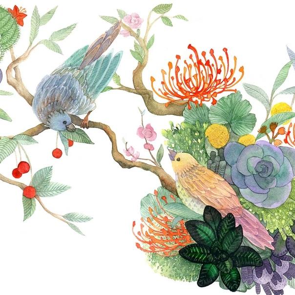 Корейский иллюстратор под ником illustrator_rosa. Работы этого художника выполнены акварелью и отличаются душевностью, содержательным сюжетом и гармоничной