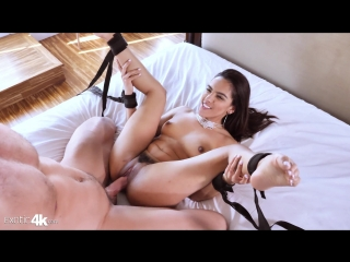 adrian hush bound latina () [2018 г., lingerie, blowjob, fishnet, cowgirl,