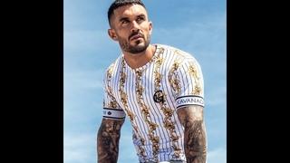Мужская футболка с короткими рукавами, летняя брендовая одежда в стиле хип хоп, повседневная футболка в горизонтальную полоску