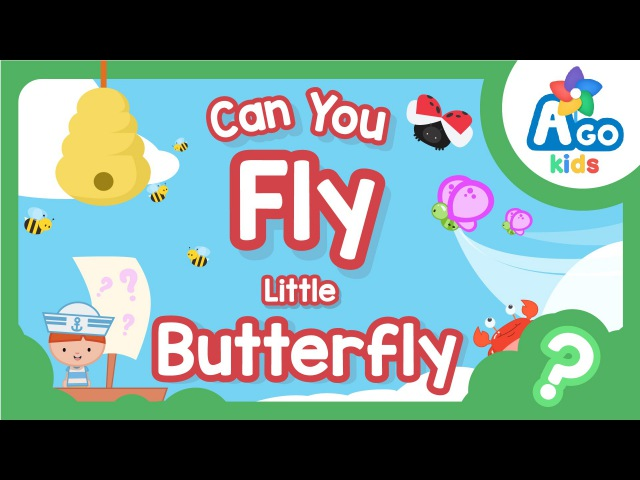 Can You Fly Little Butterfly Action Song For Kids BINGOBONGO Learning