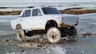 КОПЕЙКА ... ВАЗ 2101 на зацепистых колесах! RC OFFroad 4x4