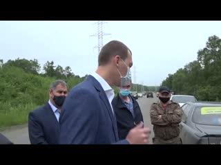 Дегтярев встретился с протестующими на трассе NR