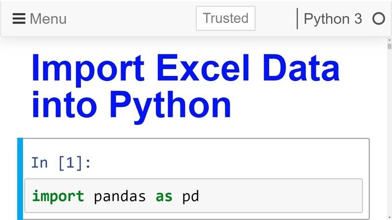 Import Excel data file into python pandas Read Excel File