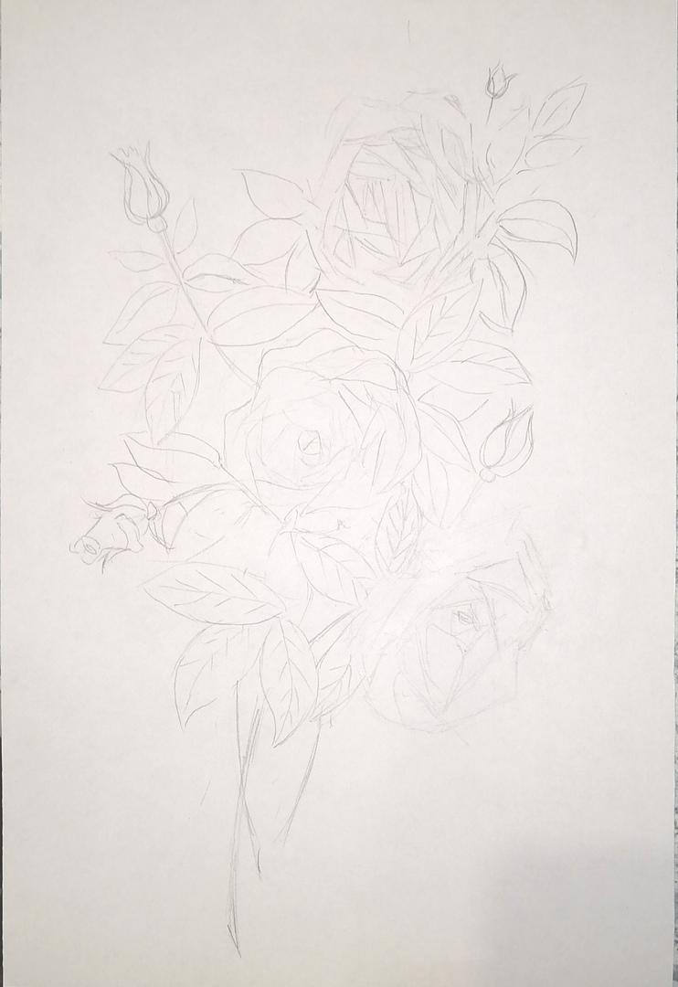 ОНЛАЙН-УРОК по рисованию «Дикая роза», изображение №3