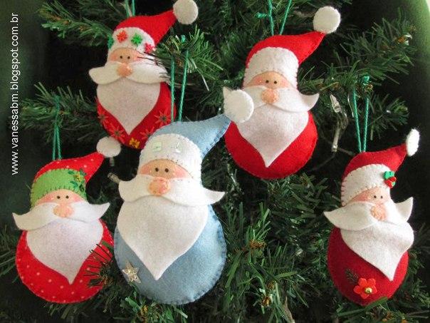 Дед Мороз из фетра
