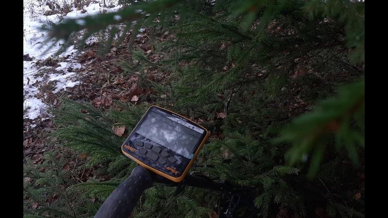 Поиск в зимнем лесу с Garrett Apex