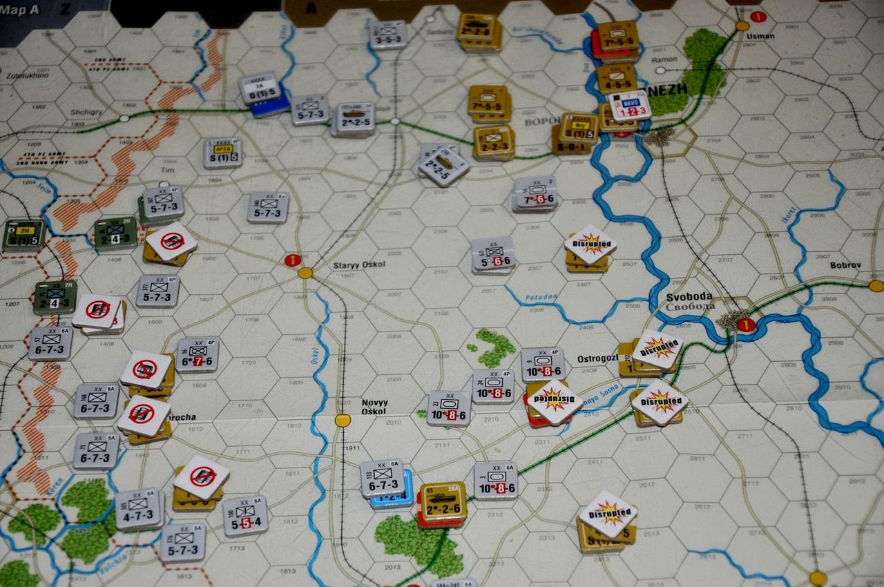 Немецкие войска продолжили давить отступающие советские части, только у Воронежа формировалось что-то типа стабильной линии фронта