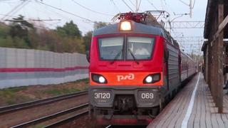 Электровоз ЭП20-069 с поездом№107М Москва-Брянск станция Внуково