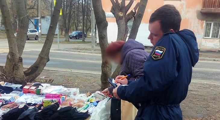 В Ярославле приставы у уличных торговцев конфисковали товар