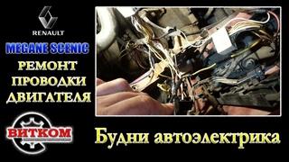 Renault Megane и Megane Scenic  не стабильно работает. Ремонт проводки.