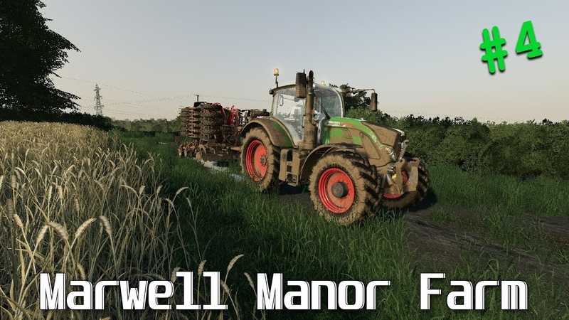 Collecting bales night sowing FS 19 Marwell Manor Timelapse 4