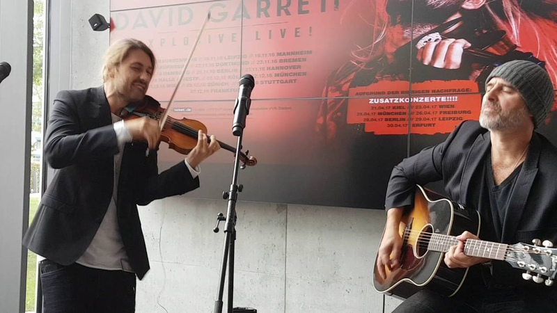 David Garrett and Marcus Wolf Walk This WayLive in Offenburg 2016 for a promo concert