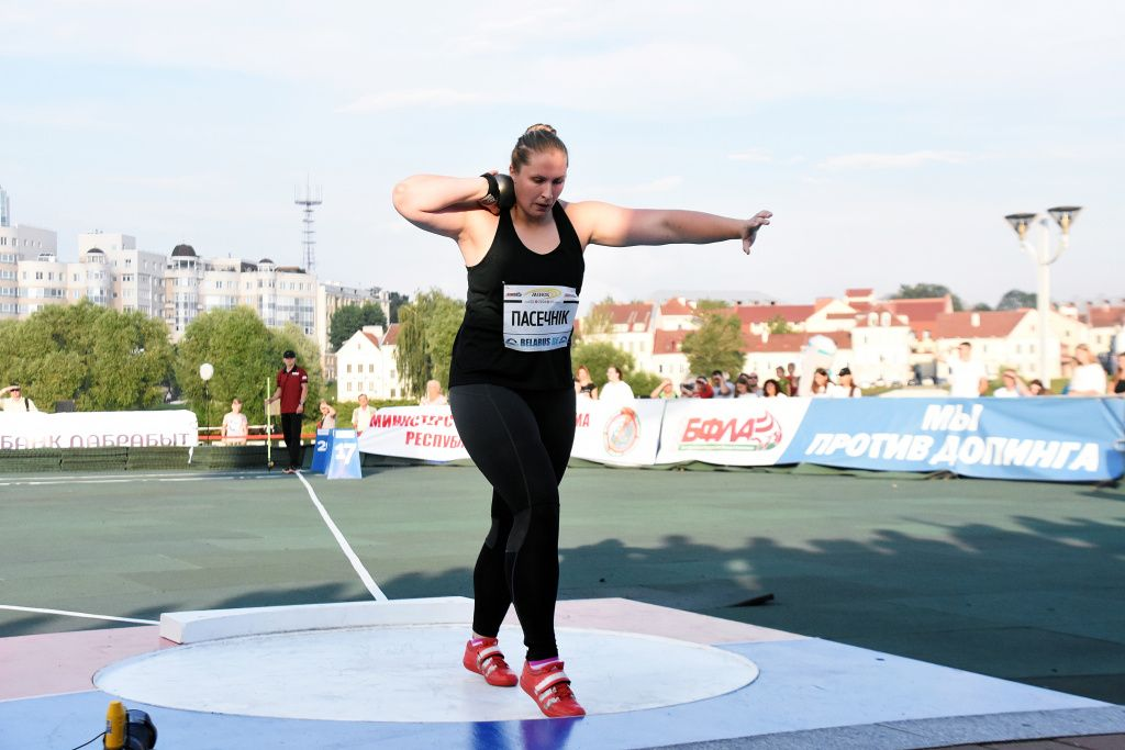Лидчанка завоевала награду на турнире по толканию ядра в Минске.