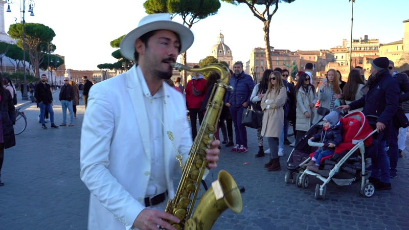 Dragostea Din Tei - STREET SAX PERFORMANCE in Rome