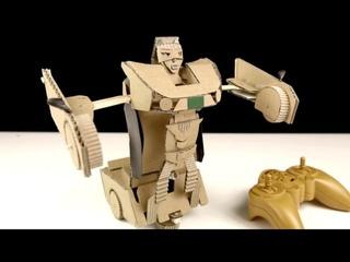 Remote Control Car Robot Transformer - DIY from Cardboard