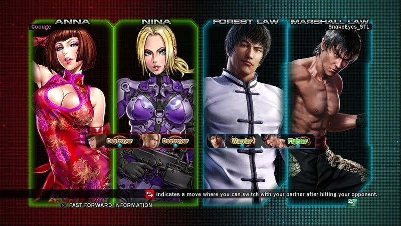 935 Tekken Tag Tournament 2 Coouge Anna Nina vs SnakeEyes STL Forest Marshall