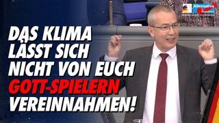 Das Klima lässt sich nicht von euch Gott-Spielern vereinnahmen! - Hansjörg Müller - AfD-Fraktion