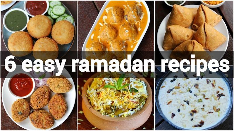 6 quick easy ramadan recipes for iftar | iftar recipe collection | ramzan recipe ideas