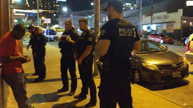 Cops, Austin, Texas. ACLFest Stop I.D. @Laura Shark
