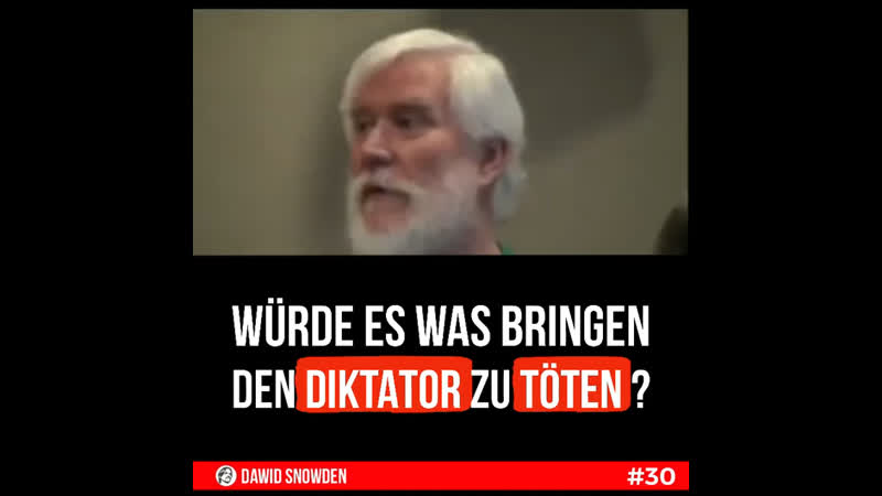 30 ~ würde es was bringen den Diktator zu töten
