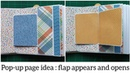 Pop-up page idea - flap appears and opens / interactive card ideas / scrapbook card ideas