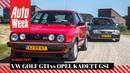 Volkswagen Golf II GTI vs Opel Kadett GSi - Classics dubbeltest - English subtitles