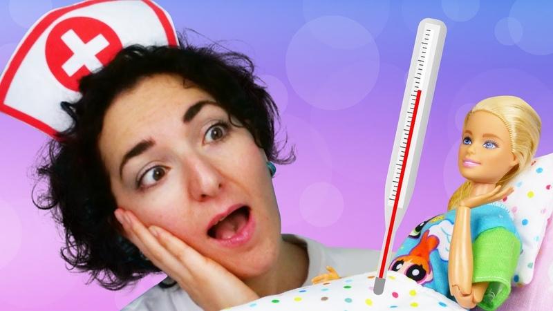Barbie ha la febbre Sydney fa la dottoressa La sorpresa degli amici Video per bambini