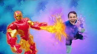Железный Человек в видео шоу – Акватим на соревновании спасателей! – Онлайн игры битвы.
