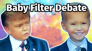 I put a baby filter on the debate and it will make you laugh...