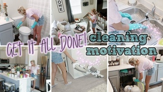 GET IT ALL DONE CLEAN WITH ME!/ MOTIVATION/ KAYLE