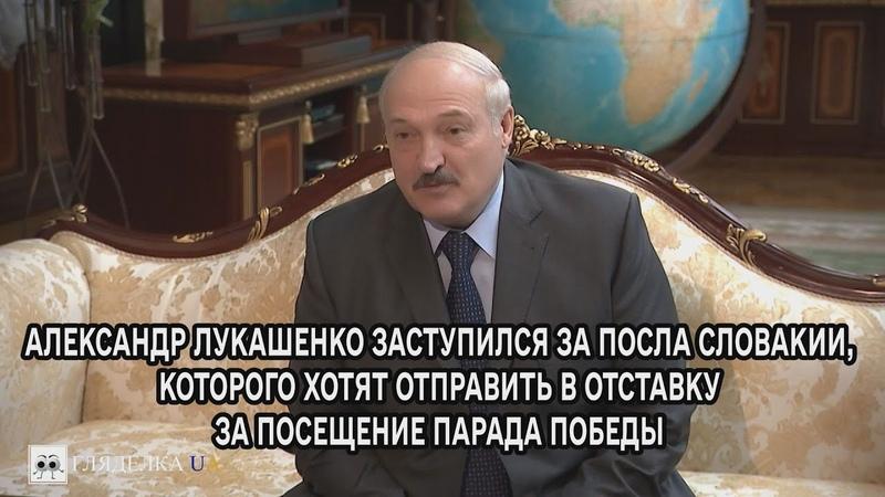 Лукашенко заступился за посла Словакии которого хотят отправить в отставку за посещение парада