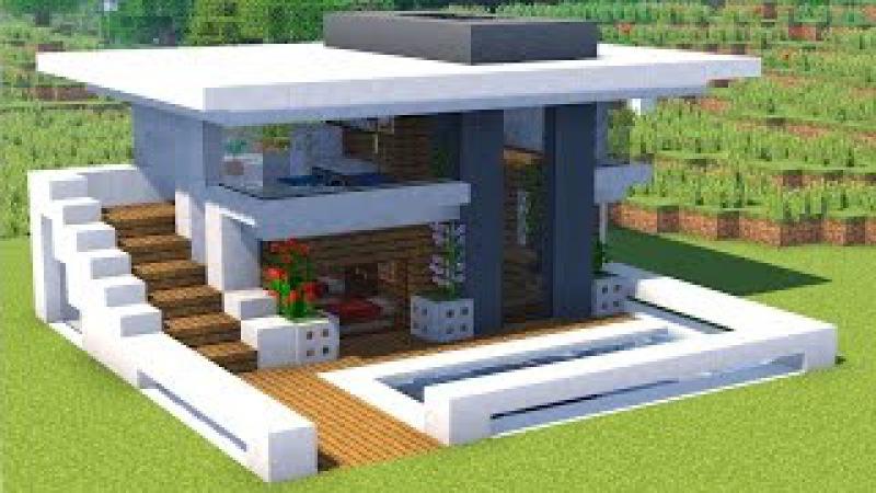дом в стиле хай тек майнкрафт #3