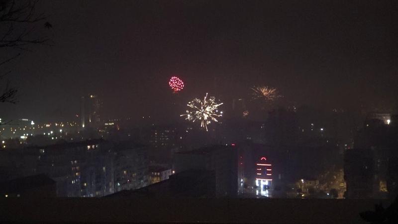 Батуми.Batumi. Новый год 2019. Салют. Дождь.