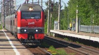 Электровоз ЭП2К-193 с поездом №14  Санкт-Петербург — Новокузнецк