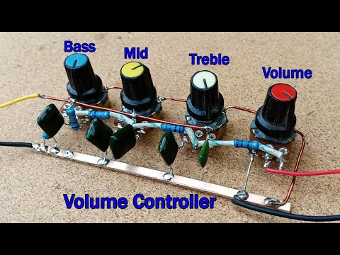 How to make Audio Volume Controller Bass Middle Treble Circuit at Home