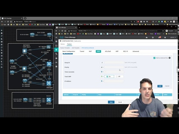 Cisco SD-WAN 011 - Service VPN1 DHCP and VRRP via CLI and Templates