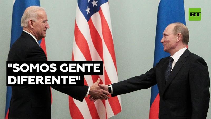 Putin responde a los insultos de Biden Tenemos diferentes códigos genético cultural y moral
