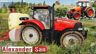 #Farming #Simulator 2019 Новый тяжелый #трактор #Комбайн пашет поле Прохождение Фарминг Симулятор