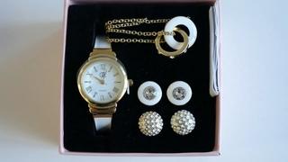 Комплект украшений и часы (код 43094)