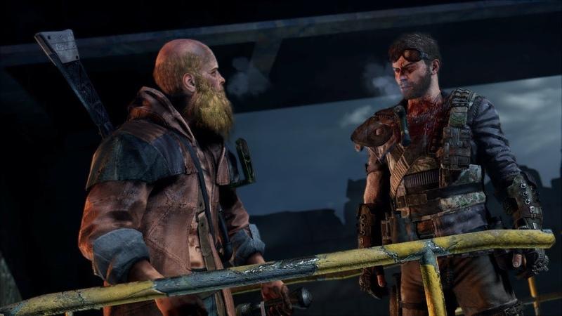 Mad Max. Ковчег Брюхореза. Рыжий, бородатый, за спиной лопата.