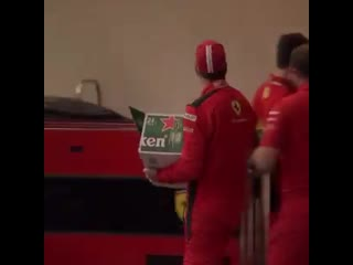 Seb handing out the beers
