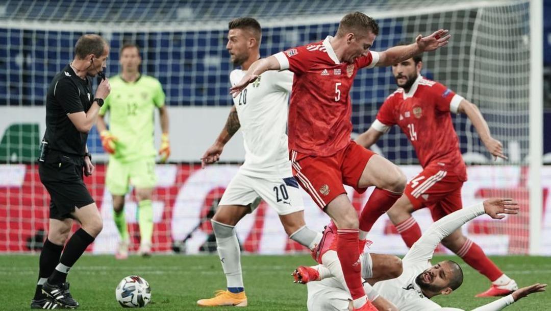 Сборная России - Сборная Сербии, 3:1. Лига наций