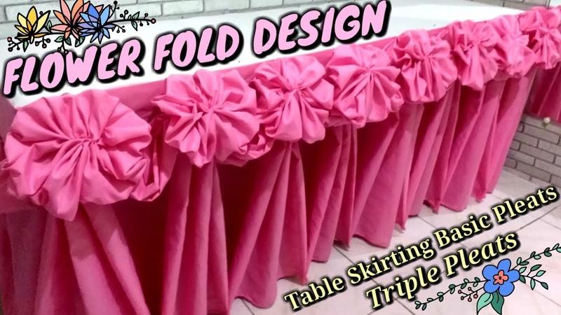 FLOWER Fold Design Table Skirting Basic Pleats