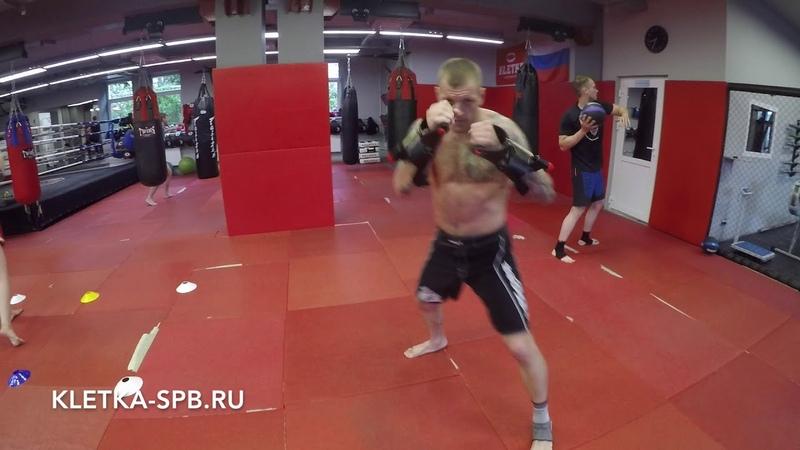Круговая тренировка для бокса кикбоксинга тайского бокса в CK KLETKA Андрея Басынина