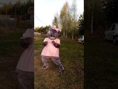 Ростовой Мишка веселится и танцует