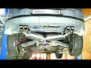 NEX® VW Tiguan. ЭКСКЛЮЗИВ! Глушитель раздвоенный & 4 насадки Ø 76 мм.