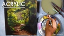 Acrylic Painting : A Composition on A Forest : How to Create A Backlit Atmosphere