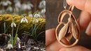 WOOD CARVING A SNOWDROP FLOWER WITH HAND TOOLS ONLY The Awakening of Spring