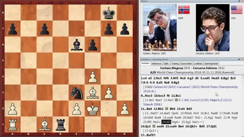 Магнус Карлсен - Фабиано Каруана (Лондон, 2018 год). 9-я партия матча